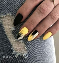 This series deals with many common and very painful conditions, which can spoil the appearance of your nails. SPLIT NAILS What is it about ? Nails are composed of several… Continue Reading → Kt Nails, Gold Nails, Black Nails, Matte Nails, Prom Nails, Coffin Nails, Matte Black, Yellow Nails Design, Yellow Nail Art