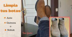 Como limpiar tu calzado de ante o gamuza