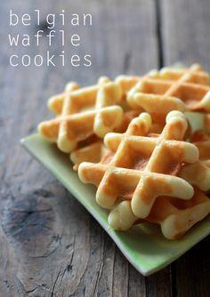 Belgische Waffel-Kekse mit viiiiel Butter - sehr lecker, knusprig im normalen Waffeleisen (Herz), weicher im belgischen
