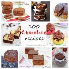100 Chocolate Recipes!!! via @RoxanaGreenGirl | Roxana's Home Baking