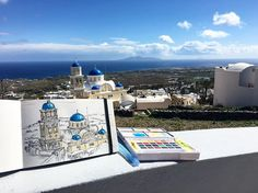Amazing painting by @lile_h! #Fira town #Santorini
