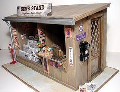 News Stand - Side - diorama
