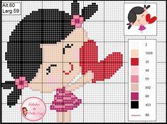 Baby Cross Stitch Patterns, Cross Stitch For Kids, Cute Cross Stitch, Cross Stitch Alphabet, Cross Stitch Charts, Pixel Crochet Blanket, Tapestry Crochet, Stitch Doll, Loom Patterns