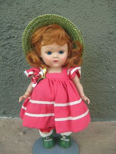 1950's Strung Vogue Ginny Doll - All Original with Perfect Center Snap Shoes