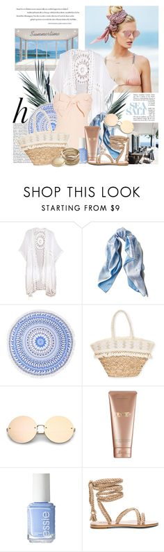 """SEA SALT"" by kat969 ❤ liked on Polyvore featuring Beach Riot, Whiteley, Do Everything In Love, Asprey, Sun N' Sand, La Mer, Essie and Sole Society"