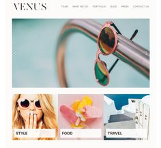 clean and modern website template