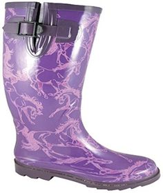 Ladies Dancing Horse Rain Boots  Ladies Size 7 -- Find out more about the great product at the image link.