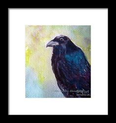 Raven art, Print, framed, halloween