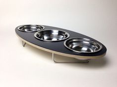 the Ellipse modern pet bowl for cats and small dogs by dripmodule