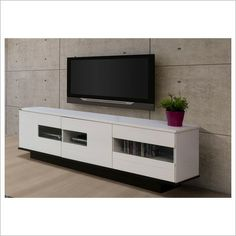White gloss door waverley lowline tv unit tv-back wall ideas Living Room Sets, Home Living Room, Ikea Media Console, Lowline Tv Unit, Lcd Units, Tv Entertainment Units, Living Room Accessories, Tv Cabinets, Online Furniture