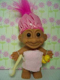 "BATH / SHOWER GIRL WITH DUCKY - 5"" Russ Troll Doll - NEW IN ORIGINAL WRAPPER #Russ #TrollDoll"