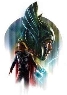 Thor vs. Loki - by May Ooi