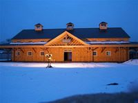 Geobarns - specializing in elegant and artistic barns using a modified post and beam structure and timber frame Barn Builders, Beam Structure, Post And Beam, Modern Barn, Massachusetts, Barns, Commercial, Cabin, Homes