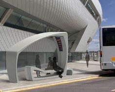 Lang Bus Shelter: A minimalistic design for urban landscapes Bus Stop Design, Design Jobs, Urban Furniture, Street Furniture, Concrete Furniture, Privacy Landscaping, Hydrangea Landscaping, Driveway Landscaping, Bus Shelters