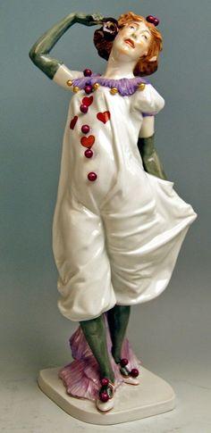 MEISSEN  マイセン FIGUR PIERRETTE WEIBLICHER PIERROT M.WIEGAND MNR: Y165 UM 1910 RAR | eBay