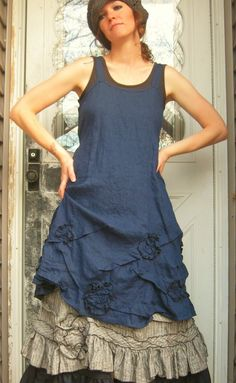 Scrunches And Flower Dress by sarahclemensclothing on Etsy, $149.00