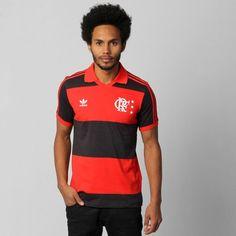 A Camisa Polo Adidas Flamengo 2014 Retrô anos 80 Vermelho e Preto apresenta um manto vitorioso ao torcedor. Especial para eternizar a década que o Mengão conquistou muitas glórias. | Netshoes