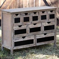 Wooden Cabinet with Ten Drawers    $352.00@http://antiquefarmhouse.com/current-sale-events/chalk.html