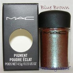 Website where you can buy samples of MAC makeup. Perfect for the pigments which everyone says never ever run out and they're super cheap and you can buy 8 samples for the price of one full size pigment. Blue Brown shown here.