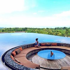 Amazing view from sunken lounge at Rimba Lobby, Ayana Resort, Bali