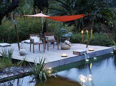 4 décoration de terrasse et jardin chic et choc Metal Pergola, Deck With Pergola, Cheap Pergola, Covered Pergola, Patio Roof, Pergola Plans, Diy Pergola, Pergola Kits, Pergola Ideas