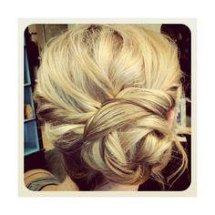 Hair LOVE braided bun found on Polyvore