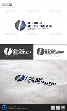 Chiropractic Logo #GraphicRiver Chiropractic Logo is 100% editable and resizeable vectors! suitable for health consultant, spine specialist or