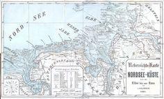 Ostfriesland - Die Deutsche Bucht, 1881. Nordseeküste von der Elbe bis zur Ems. L. Halenbeck