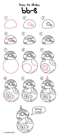 how to draw bb 8 from star wars easy drawing step by step