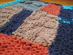 hand knitted rugs - Google Search