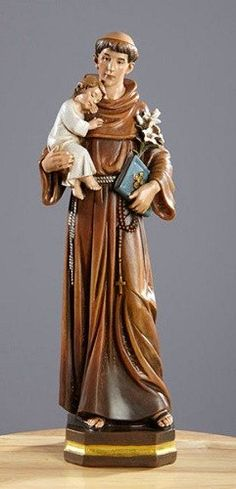 Saint Anthony With Baby Jesus Statue From The Avalon Gallery