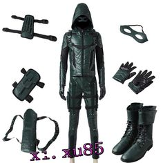 Top Quality Original Green Arrow Season 5 Oliver Queen Cosplay Costume Full Suit Custom for Any Size Green Arrow Costume, Green Arrow Cosplay, Superhero Suits, Superhero Cosplay, Cosplay Costumes, Cosplay Ideas, Costume Ideas, Halloween Costumes, Nightwing Cosplay