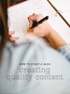 Create a content plan that inspires you, gives you room to grow, and provides value to your readers // Elle and Company