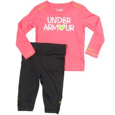 Under Armour Baby Girls Set in Ultra Pink - Free Shipping on All Orders