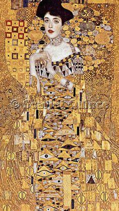 Scarlet Quince cross stitch chart: Portrait of Adele Bloch-Bauser I (detail) - Gustav Klimt