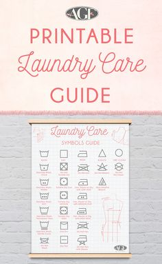 Laundry care guide graphic