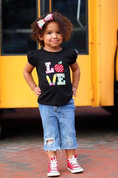 School LOVE Shirt  Back to School Shirt  by CreationsSewFabulous, $22.00