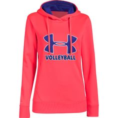 NEW at All Volleyball! Under Armour Women's Big Logo Hoodie - Neo Pulse $54.99