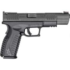 """Springfield Armory XD(M) Competition Series Semi Auto Pistol 9mm Luger 5.25"""" Steel Melonite Barrel 19 Rounds Fiber Optic Front/Adjustable Rear Sight Essentials Melonite Slide Polymer Frame Matte Black Finish XDM95259BHCE - 706397905446"""