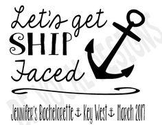 Let's Get Ship Faced Flowy Raglan Tee Shirts