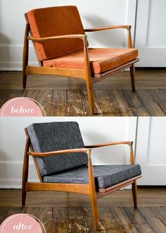 Trendy Ideas For Mid Century Furniture Makeover Modern Chairs Couch Furniture, Retro Furniture, Mid Century Modern Furniture, Furniture Design, Refurbished Furniture, Repurposed Furniture, Furniture Stores, Rustic Furniture, Antique Furniture