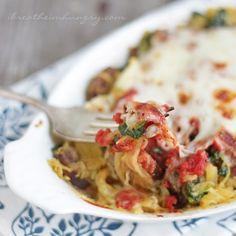 Sausage Spinach & Spaghetti Squash Bake
