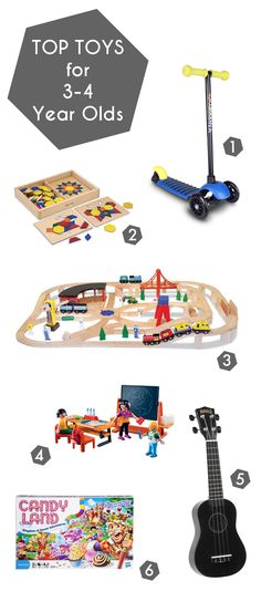 Top Toys for 3-4 Year Olds. A gift guide for preschoolers, these items have been loved by my 3 year old for at least a year.