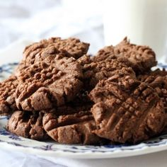Cookies from scratch with only four ingredients! These chocolate PB cookies couldn't be easier—and they're positively scrumptious!
