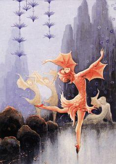 Rudolf Koivu: Pieni kultakala (The Little Goldfish) Fairy Land, Fairy Tales, Art Magique, Paper Toy, Inspiration Art, Autumn Fairy, Graphic Design Print, Children's Book Illustration, Book Illustrations