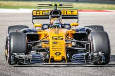 Renault Sport driver Carlos Sainz of Spain drives through turn 1 during morning practice for the Formula 1 United States Grand Prix on October 21 at. F 1, Formula One, Grand Prix, Spain, October, United States, Modern, Sports, Hs Sports
