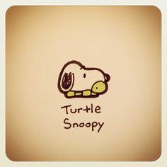 Turtle Snoopy #turtleadayjuly - @turtlewayne- #webstagram