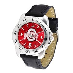 Ohio State Buckeyes Men Sport AnoChrome Leather Band Watch in Sports Mem, Cards & Fan Shop, Fan Apparel & Souvenirs, College-NCAA Mississippi State Bulldogs, Georgia Bulldogs, Mens Sport Watches, Watches For Men, Cheap Watches, Men's Watches, North Carolina State Wolfpack, Carolina Gamecocks, Texas Tech Red Raiders