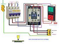 Esquemas eléctricos: Conectar contactor a botoneras trifasico