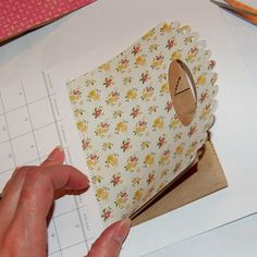 Love this idea to create a pocket on a scrapbook page! Will do it tonight! :)